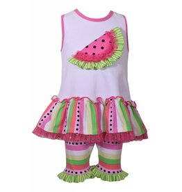 Bonnie Baby Watermelon Tunic And Biker Set