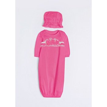 Isobella & Chloe Hot Pink Layette Gown