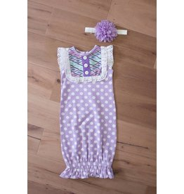 Peaches 'n Cream Lavender Gown with Headband