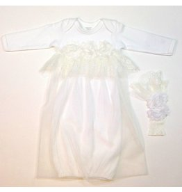 Persnickety Baby Bethany Gown & Headband