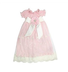 Haute Baby Lacey Rose Newborn Girls Gown