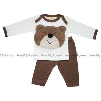 Haute Baby Bear Wear Baby Boy Legging Set