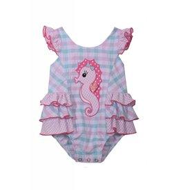 Bonnie Baby Seahorse Seersucker Bubble