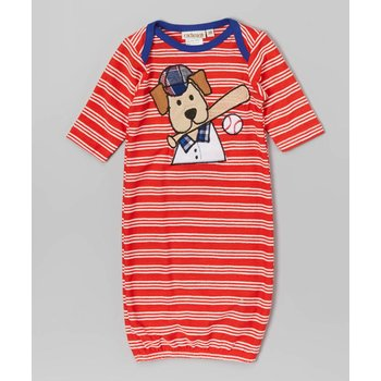 CachCach Puppy Dog/Baseball Red Gown
