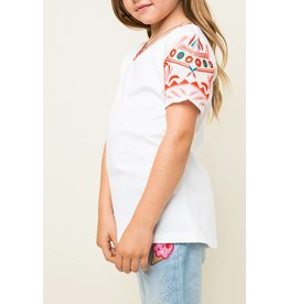 Hayden Colorful Embroidered Tee