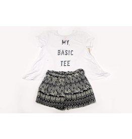 PP LA Black & Ivory Floral Shorts