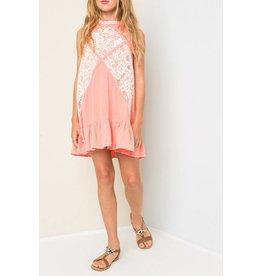 Hayden Coral Lace Mock Dress