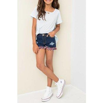 Hayden Embellished Denim Shorts