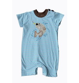 Wally & Willie Blue Striped FIsher Man Onesie