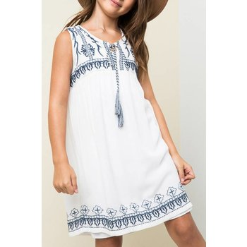 Hayden Embroidered Tunic Dress
