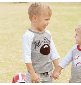 Mud Pie All Star Football Raglan T-Shirt