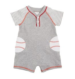 Mud Pie Baseball Raglan Romper