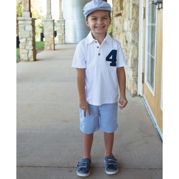 Rugged Butts White Rugby Birthday Number Polo
