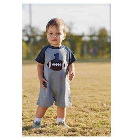 Mud Pie First Birthday Football Romper