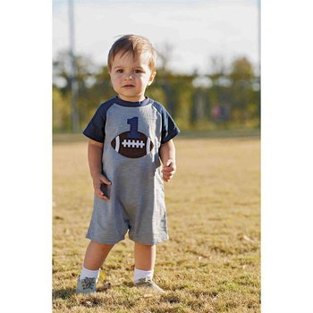 Mud Pie First Birthday Football Romper