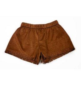PP LA Suede Fringed Brown Short