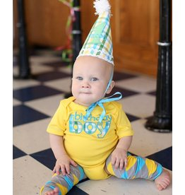 Rugged Butts Yellow 1st Birthday Bodysuit