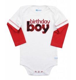 Rugged Butts White First Birthday Onesie Boys 12M