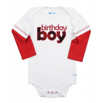 Rugged Butts White First Birthday Onesie Boys 12M