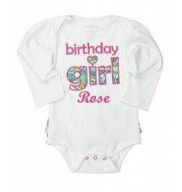 Ruffle Butts Birthday Girl Paisley Bodysuit 12 Months
