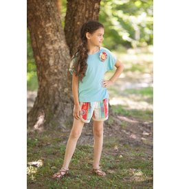 Mallory May Navajo Crochet Trimmed Shorts