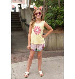 Mallory May Yellow Lazy Daisy Tank Top Tween