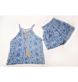 PP LA Light Blue Paisley Shorts