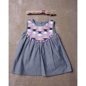 Jak & Peppar Chambray Ryder Embriodery Dress