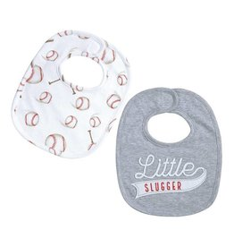Mud Pie Baseball Bib Set