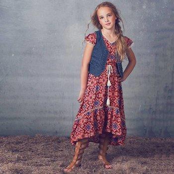 Jak & Peppar Tangerine Sienna High Low  Dress