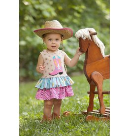 Molly & Millie Star Cowgirl Boot Dress
