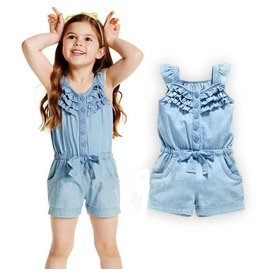 Denim One Piece Play Suit