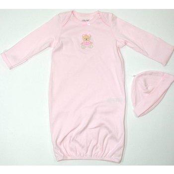 Little Me Light Pink Little Bear Gown