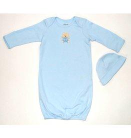 Little Me Light Blue Little Bear Gown