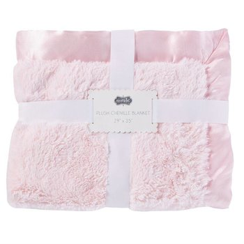 Mud Pie Pink Chenille Plush Blanket