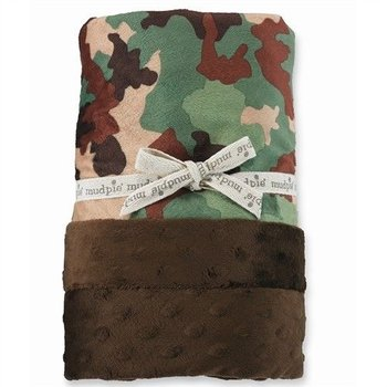 Mud Pie Camo Minky Blanket
