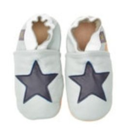 Helene's Closet Leather Navy Star Shoe