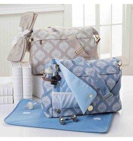 Mud Pie Jaipur Messenger Diaper Bag Blue