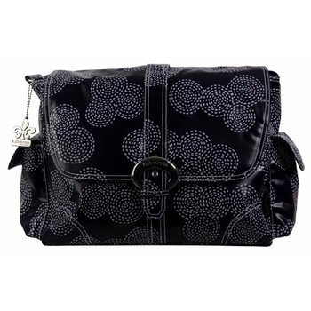 Kalencom Stitches Navy Buckle Diaper Bag
