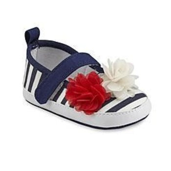 Laura Ashley Red Navy and White Mary Jane  Shoes