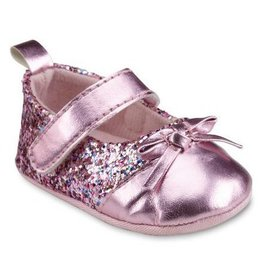 Laura Ashley Pink Glitter Mary Janes