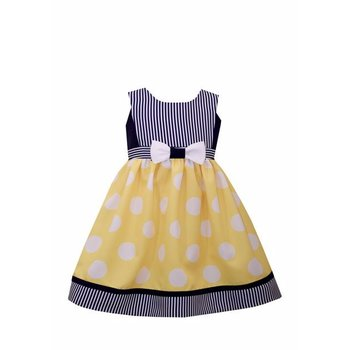 Bonnie Baby Nautical Polka Dot Dress