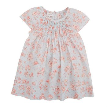 Mud Pie Blue Rose Smocked Dress Set