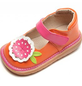 Mooshu Trainers Big Flower Mary Jane Girls Toddler Squeaky Shoes