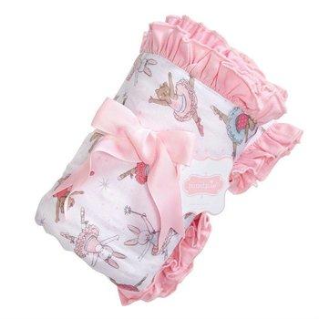 Mud Pie Ballerina Ruffle Blanket