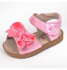 Mooshu Trainers Pink Princess Bow Sandal Girls Toddler Squeaky Shoes