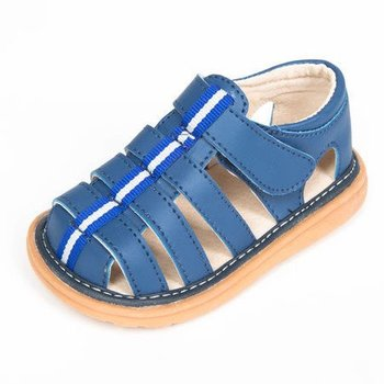 Mooshu Trainers Blue Fisherman Sandal Boys Toddler Squeaky Shoes