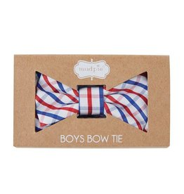 Red White and Blue Plaid Bow Tie