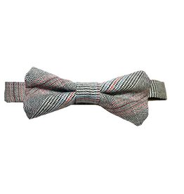My Little Lady Bug Houndstooth Plaid Bowtie
