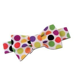 Rainbow Polka Dot Bowtie